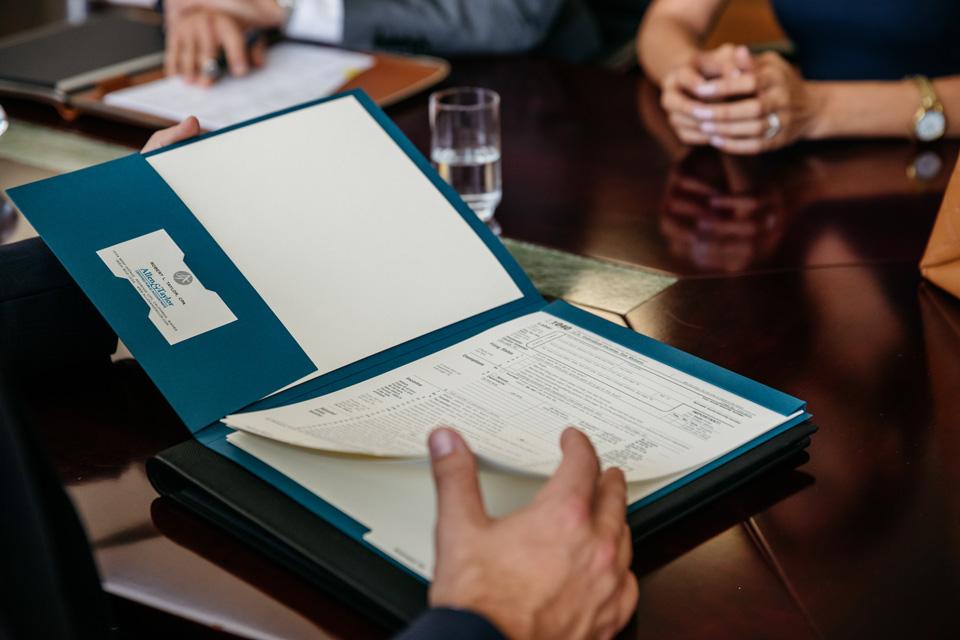 CPA Tax Return Folder With Hidden Bind